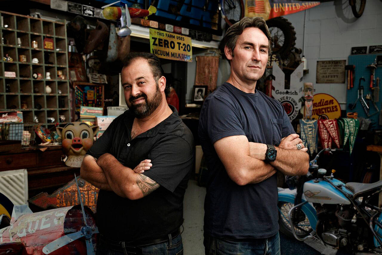 "From left, Frank Fritz and Mike Wolfe of ""American Pickers"" are coming to Washington and looking for antique finds. Photo courtesy of ""American Pickers"""